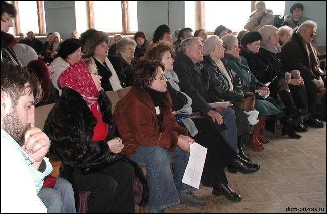 20.02.2005г, собрание дольщиков дома 34 в здании ФГУП 'ЦНИИЭПсельстрой'.
